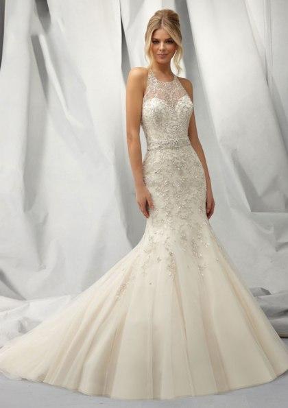Halter Mermaid Wedding Dress