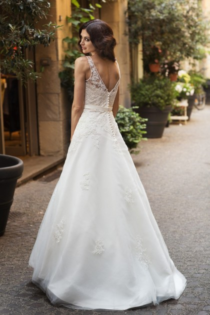 A Line Lace Wedding Gown